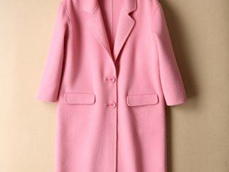 różowy płaszcz damski